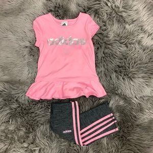 Adidas | 2 Piece Set | Pink & Grey | Various Sizes